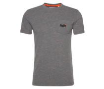 T-Shirt 'rain Slub Pocket Tee' dunkelgrau