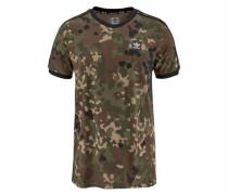 H T-Shirt braun / grün