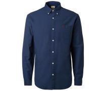 Oxford -Langarmhemd blau