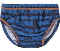 Baby Schwimmwindel für Jungen UV-Schutz 50+ blau / orange / schwarz