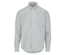 Hemd mit feinem Muster grau