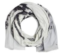 HILFIGER DENIM Ctory Scarf – Baumwollschal mit Fotoprint schwarz / weiß