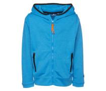 Sweatjacke 'sporty tech sweat jacket' royalblau