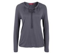 Flammgarn-Shirt mit Bändern grau / schwarz
