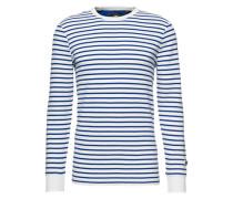 Sweater 'Jirgi striped r t l/s' weiß / blau