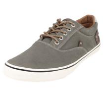 Sneaker aus gewaschenem Canvas braun / khaki / weiß