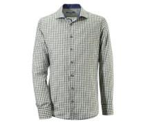 Trachtenhemd Herren mit Kontraststeppung grün