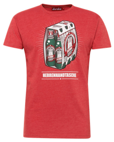 Shirt 'Herrenhandtasche Reloaded' rot