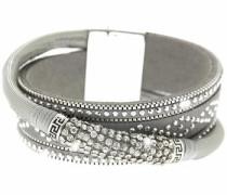 Armband 'Marisol' grau / silber / weiß