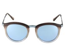Sonnenbrille 'No Smirking' blau / braun