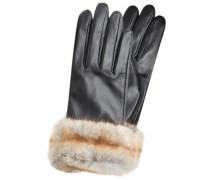 Handschuhe Leder orange / schwarz