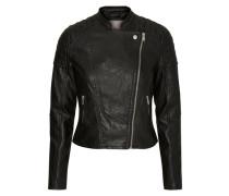 Lederimitat-Jacke schwarz