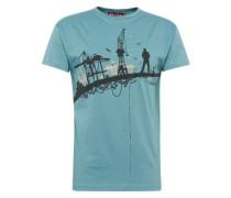 T-Shirt 'Hafenschiffer 18' jade