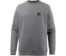 'Crew' Sweatshirt Herren graumeliert