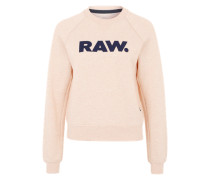 Sweater 'Xula Art Straight' pfirsich / schwarz