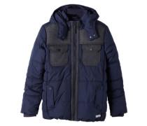 Multifunktionale Winterjacke blau