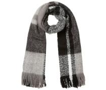 Karierter Schal grau / schwarz