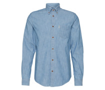 Hemd im Denim-Look blau