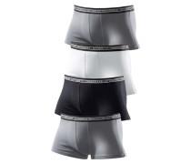 Hipster Authentic Underwear (4 Stck.) grau / dunkelgrau / schwarz / weiß