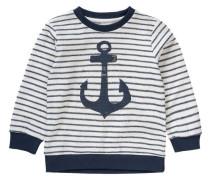 Sweatshirt 'Nitfion' für Jungen ultramarinblau / naturweiß