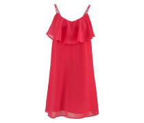 Feminines Kleid ohne Ärmel rot