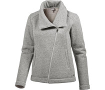 Strickfleece Damen grau