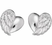 Paar Ohrstecker 'Herzflügel Ere-Lilheartwing-St' silber