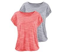T-Shirt lachs / grau