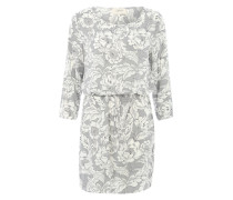 Blusenkleid mit Allover-Print grau