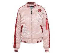 Bomberjacke 'Souvenier' rosa / rot