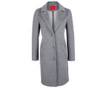 Melierter Mantel mit Wolle grau