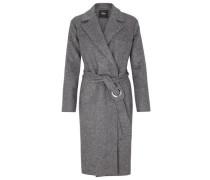 Mantel aus Wollmix graumeliert