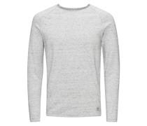Pullover Waffel-Webung Raglan grau