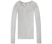 Hilfiger Denim Langarmshirt »Thdw Basic CN Knit L/S 12« graumeliert