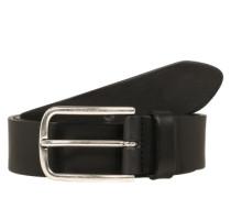 Ledergürtel in Vintage-Optik schwarz