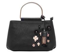 Handtasche mit Metallhenkeln und 3D-Blüten