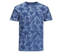 Botanik-T-Shirt blau