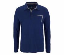 Langarm-Poloshirt navy / grau