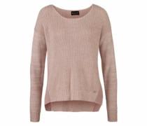 Pullover mit kontrastfarbigen Einsätzen rosé