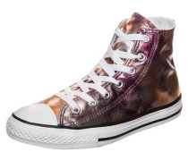 Chuck Taylor All Star Metallic High Sneaker Kinder pink / weiß