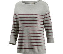 Strickpullover Damen grau / bordeaux