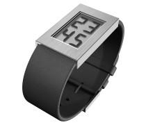 Uhr schwarz / silber