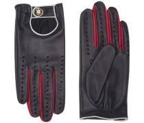 Handschuh 'biker Leather Gloves' rot / schwarz