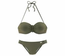 Bügel-Bandeau-Bikini khaki
