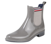 Chelsea Boots in Lack-Optik 'Dette' grau