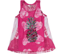 Top mit Pailletten für Mädchen pink