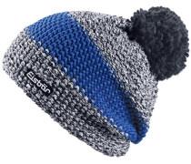 'Styler' Bommelmütze Herren blau / schwarzmeliert
