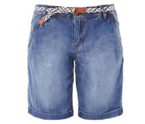 Smart Bermuda: Lyocell-Jeans blue denim