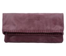 'Ronja Stit' Vintage Clutch Tasche 29 cm rot / weinrot / dunkelrot