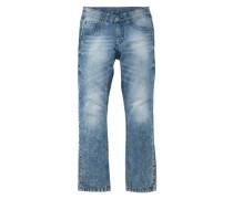 Jeans Regular-fit mit schmalem Bein blau